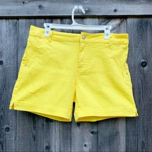 d. Jeans Bright Yellow Denim Shorts Size 14